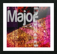 MajorBlazed Pink Fields Picture Frame print