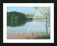 Silver Bridge - Newtown Scenes 18X24 Picture Frame print