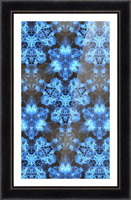 Kaleidoscope Burst of Blue  Picture Frame print