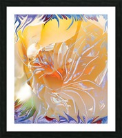 warm colors abstraction Picture Frame print