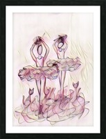 Ballerines et chat no.2 Picture Frame print
