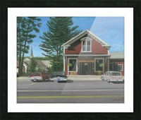 Church House and Store - Newtown Scenes 16X20 Picture Frame print