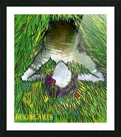 Woman of the Pond Picture Frame print