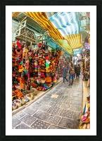 Souk Tunis Tunisie Picture Frame print