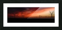 Texas Smoke Picture Frame print