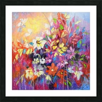 Dance of flowers Picture Frame print
