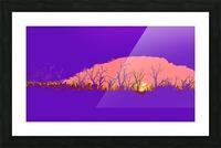 Lake Sunset - Purple Picture Frame print