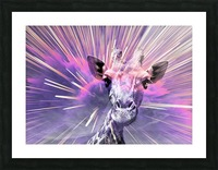 Giraffe pop 1 Picture Frame print