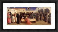 Lamentation over St. Francis Picture Frame print