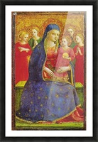 Virgin with the child and four angels Picture Frame print