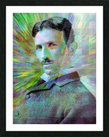 Electric Tesla Picture Frame print