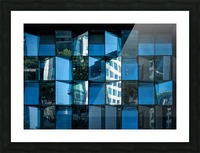 Blue Mirrors Picture Frame print
