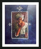 Femme au turban Picture Frame print