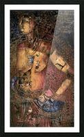 Jeun femme beninoise Picture Frame print