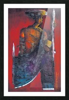 Red Massai Picture Frame print