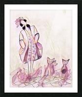 La ricaneuse et ses chat Picture Frame print