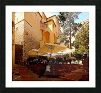French Village Bistro Picture Frame print