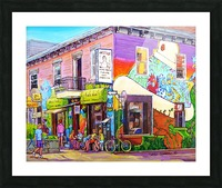 MONTREAL SUMMER PAINTING CHEZ JOSE PLATEAU CAFE SCENE Picture Frame print