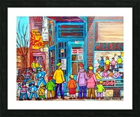 MONTREAL PAINTINGS  WILENSKY COUNTER FAIRMOUNT AND CLARK WINTER SCENES Picture Frame print