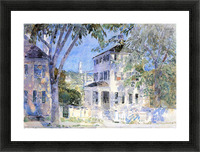 Street in Portsmouth by Hassam Picture Frame print