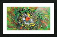 savage flower meadow abstraction Picture Frame print