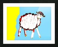 Little Aussie Sheep - Blue Picture Frame print