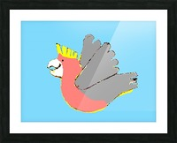 Happy Galah - Blue Picture Frame print