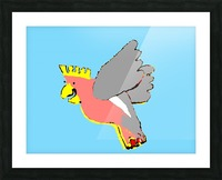 Laughing Galah - Blue Picture Frame print