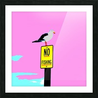 NO Fishing - Pink Picture Frame print
