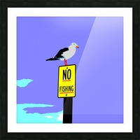 NO Fishing - Blue Picture Frame print