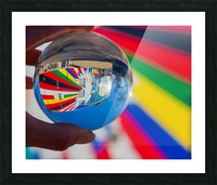 MKE Glass Ball Reflections Picture Frame print