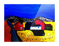 Farm Land Picture Frame print