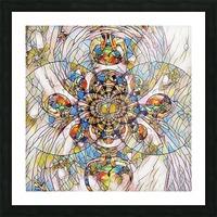 Mosaic Fractal Picture Frame print