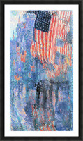 Street in the rain by Hassam Picture Frame print