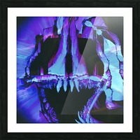 Wolf Eel Skull Picture Frame print