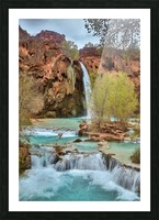 life is like a river Picture Frame print