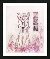 chat zen Picture Frame print
