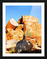 Lone Tree - Devils Marbles Picture Frame print