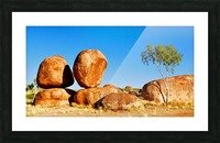 Balancing Act - Devils Marbles Picture Frame print
