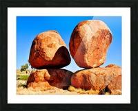 Balance - Devils Marbles Picture Frame print