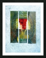 masque rouge Picture Frame print