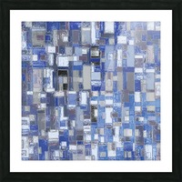 STAGE chrome blue Picture Frame print