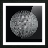 ORB Black and white Picture Frame print