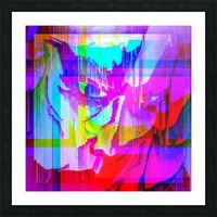 Modern Abstract Portrait  Picture Frame print