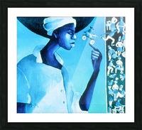 vélo bleu Picture Frame print