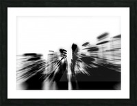 City radials in blackwhite Picture Frame print
