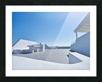 Cyclades White Architecture Design Picture Frame print