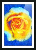Floating Rose Picture Frame print