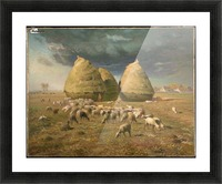 Haystacks - Autumn Picture Frame print