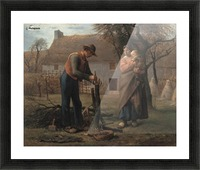 Farmer Inserting a Graft on a Tree Picture Frame print